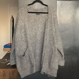 Zara oversized grey chunky cardigan